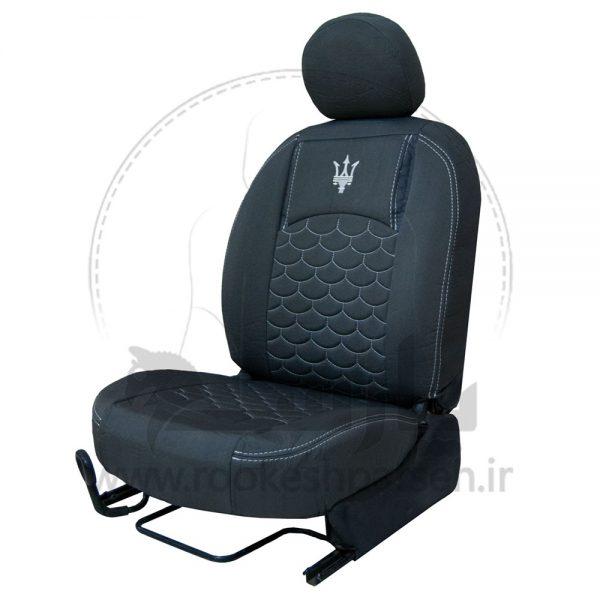 روکش صندلی پارچه کتان پژو 206 ، 207 و رانا جدید کد 94